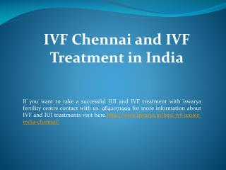 IVF Chennai and IVF Treatment in India