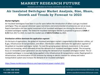 Air Insulated Switchgear Market 2017: Analysis, Top Key Players, Drivers and Trends by Forecast to 2023