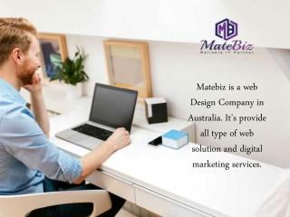Choose MATEBIZ as a Web Design Company In Sydney