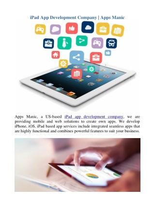 iPad App Development Company | Apps Manic