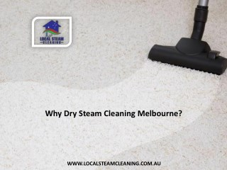 Why Dry Steam Cleaning Melbourne?