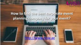 How to find the best corporate event planning company for your event