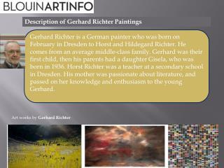 Description of Gerhard Richter Paintings
