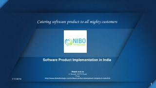 Software Product Implementation - NIBO Technologies