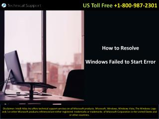 Microsoft Windows Support and Help for Windows Failed To Start