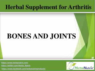 Herbal supplements for Arthritis and Joint Pain – Herbanutrin