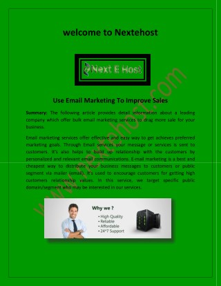 Bulk Email Marketing Service, Best Transactional Email Service