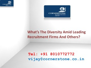 What's The Diversity Amid Leading Recruitment Firms And Others?