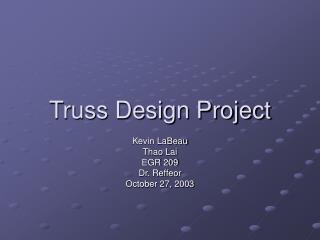 Truss Design Project