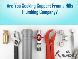Are You Seeking Support From a Hills Plumbing Company?