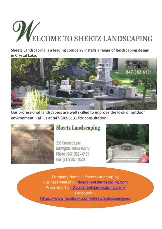 Landscapers and Landscaping Design in Barrington