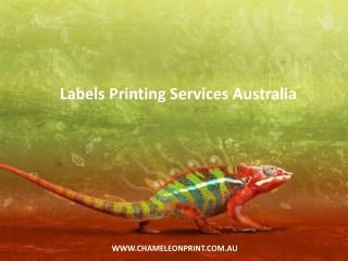 Labels Printing Services Australia - Chameleon Print Group