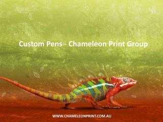 Custom Pens - Chameleon Print Group