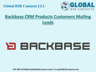 Backbase CRM Product Customers Mailing Leads