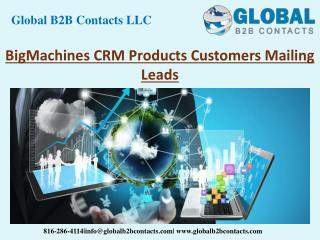 BigMachines CRM Product Customers Mailing Leads
