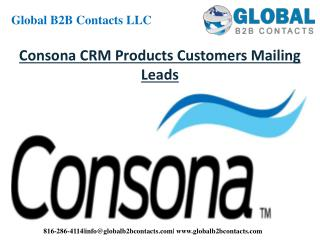 Consona CRM Product Customers Mailing Leads