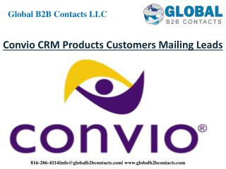 Convio CRM Product Customers Mailing Leads