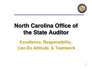 North Carolina Office of  the State Auditor