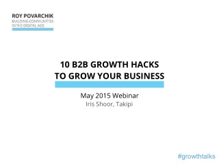 10 B2B Growth Hacks To Grow Your Business