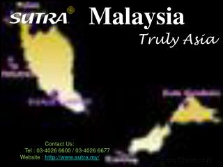 Food and Places for Malaysia Tour
