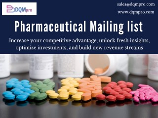 Pharmaceutical Mailing list | Pharmaceutical Email Database