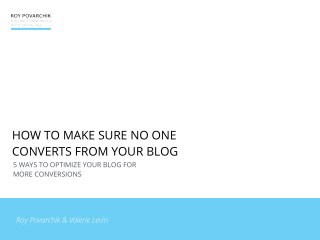 5 Ways To Optimize Your Blog For More Conversions