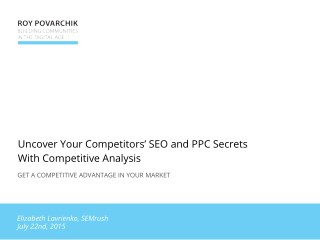 Webinar: Uncover Your Competitors' SEO and PPC Secrets With Competitive Analysis