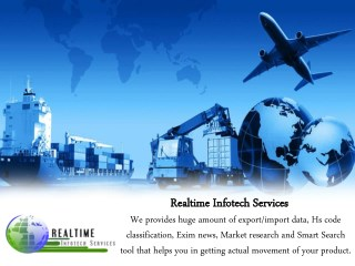 Services For Import Export Data - Realtime Infotech Services