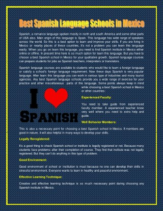 Join Spanish Language course