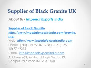 Supplier of Black Granite UK