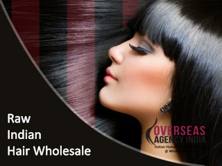 Raw Indian hair wholesale from Overseas Agency India