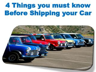 4 Things you must know Before Shipping your Car