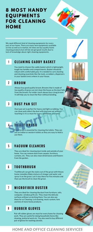 Most Handy Equipments For Cleaning Home
