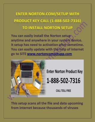 NORTON.COM/SETUP |1-888-504-7316| NORTON SETUP