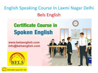 English Speaking Course In Laxmi Nagar Delhi