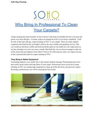 Reason to Choose Professional Organic Carpet Cleaning