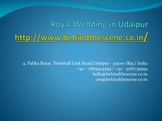 Royal Weddings in Udaipur