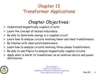 Chapter 13 Transformer Applications