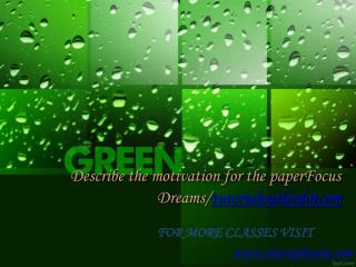 Describe the motivation for the paperFocus Dreams/tutorialoutletdotcom
