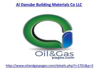 Get the best services of al danube building materials co llc in UAE