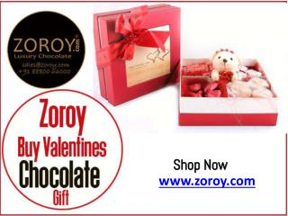 Buy Valentine Chocolate Online for Girlfriend & Boyfriend @ Zoroy