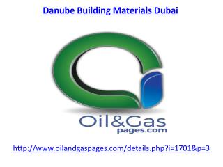 Get the best services of danube building materials company in Dubai