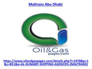 Get the best services of maltrans company in abu dhabi