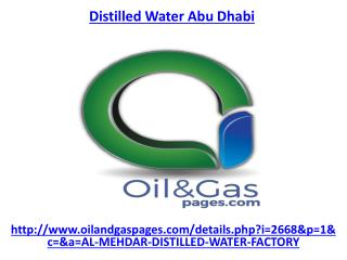 Are you looking for distilled water company in abu dhabi