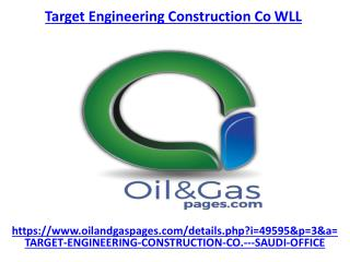 Get the best service of target engineering construction co wll in UAE