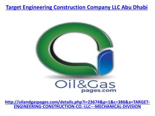 Check out the best service of target engineering construction company llc abu dhabi