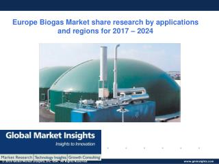 Europe Biogas Market statistics and research analysis released in latest report