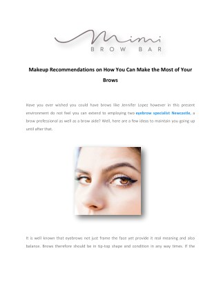 Eyebrow Specialist Newcastle | Eyebrow Feathering & Microblading