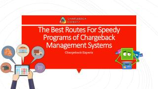 The Best Routes For Speedy Programs of Chargeback Management Systems