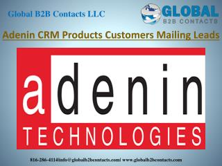 Adenin CRM products customer mailing leads